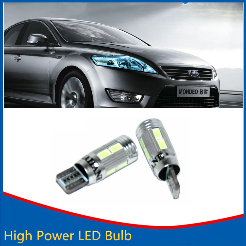 2X T10 LED W5W Car LED Auto Lamp 12V Light bulbs With Projector Lens For Ford Focus 2 3 Fiesta Mondeo Ecosport Kug wljh 2x canbus car 5630 smd t10 led w5w projector lens auto lamp light bulbs for ford focus 2 3 fiesta mondeo ecosport kuga drl