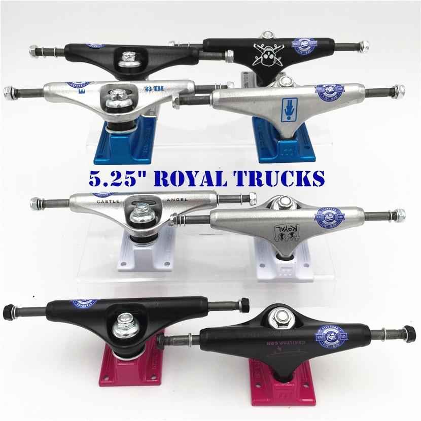 "Skateboard Trucks  5.25"" Skate Trucks Aluminum Silver Color Middle Hollow Skate Board Trucks Caminhao-in Skate Board from Sports & Entertainment"