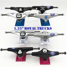 2015 Free Shipping Original ROYAL Skateboard Trucks  5.25 Skate Trucks Aluminum Skate Board Trucks Caminhao original 5 25 royal mike motruck for skateboarding made by aluminum with spitfirie logo cool black truck skate board