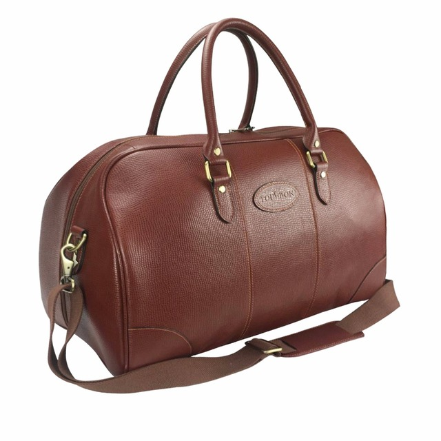 Tourbon Vintage Travalling Weekend Bag Outdoor Gym Bags Durable Brown Leather Duffle Bags for Men