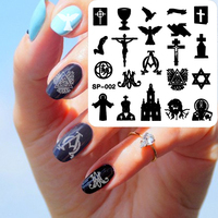 New 2016 1Set 19pcs Fashion 19 Design Octagonal Steel Plate SP Series Nail Art Stamping Template