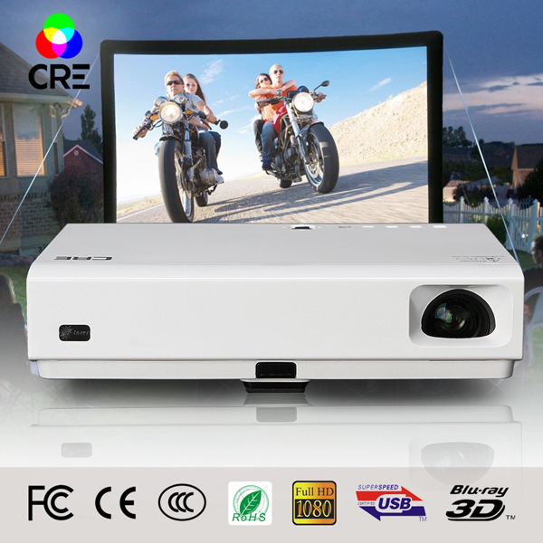 Cost effective LED hd video android 4 4 2 system 3800 lumens 1080p 3D with wifi