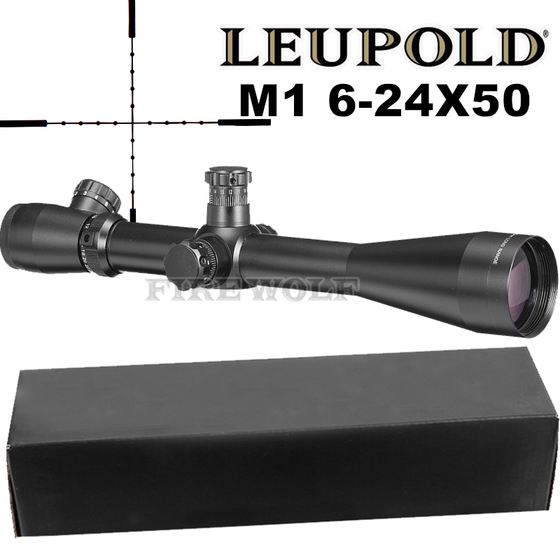 LEUPOLD 6-24X50 M1 Tactical Optics Riflescope Sniper Hunting Rifle Scopes Long Range Rifle Scopes Airsoft Rifle Scope johns irebh 32