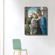 Virgin and Child by Botticelli  Wall Art Canvas Poster Print Painting Decorative Picture for Living Room Home Decor