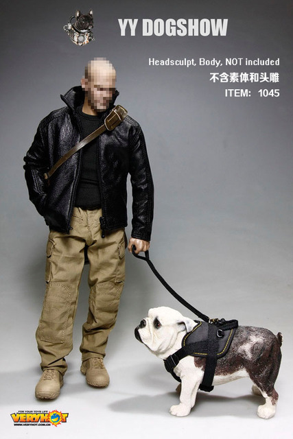 "1/6 scale Doll clothes with dog for 12"" action figure Male doll,male figure clothes + dog.head and body are not included"