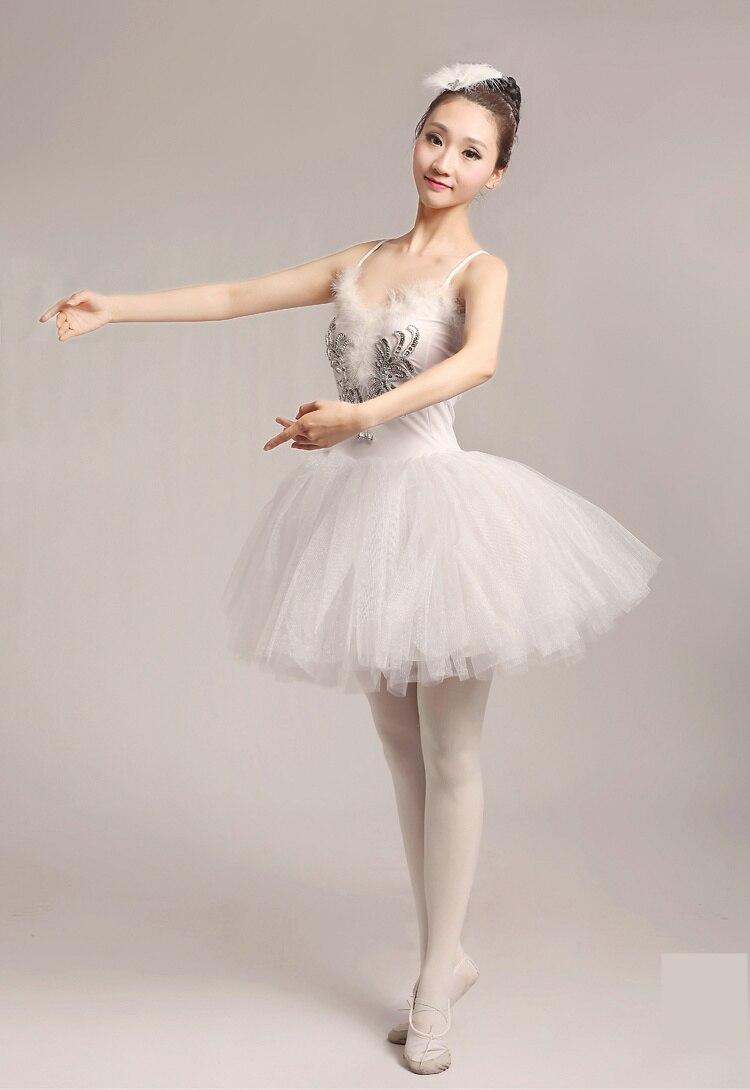 US $21.56 9% OFF|2017 erwachsenen ballett tutu dress frauen white swan kostüm leistung tüll dress ballerina in Ballett aus Neuheiten und