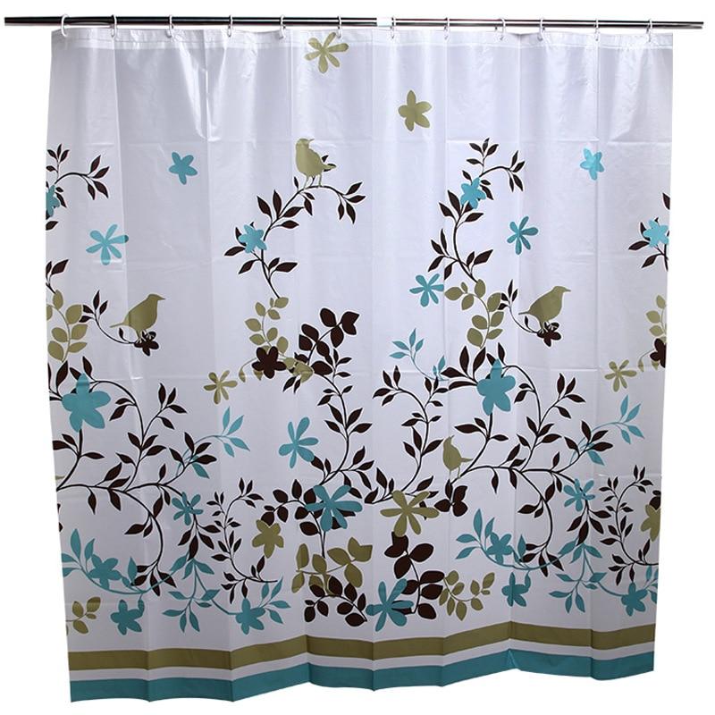 패션 에어 커피 트리 PEVA 샤워 커튼 방수 금형 절연 샤워 커튼 호텔 전용 욕실 샤워 커튼
