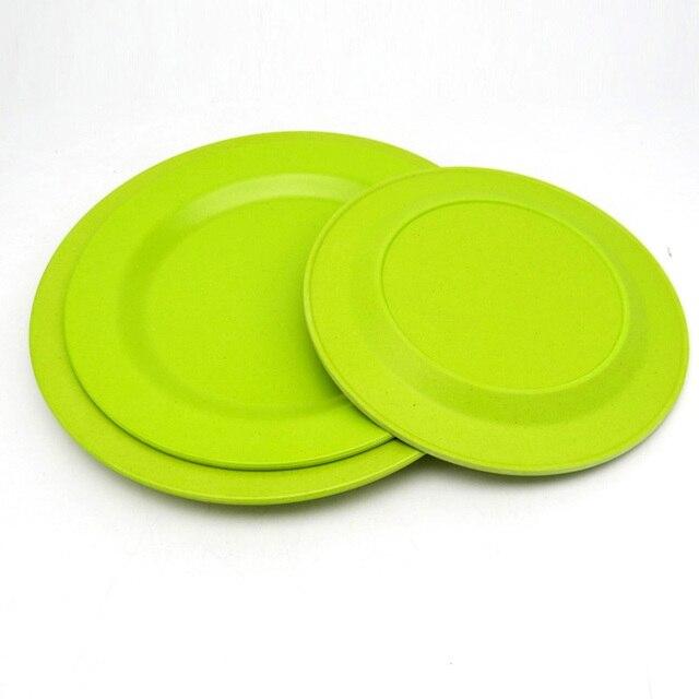 4 stücke 22 cm Umwelt China geschirr küche tablett kuchen teller ...