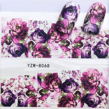 2018 All New Nail Paste Stickers, Small Fresh Flowers DIY Watermark Fingernail Stickers.YZW-8068