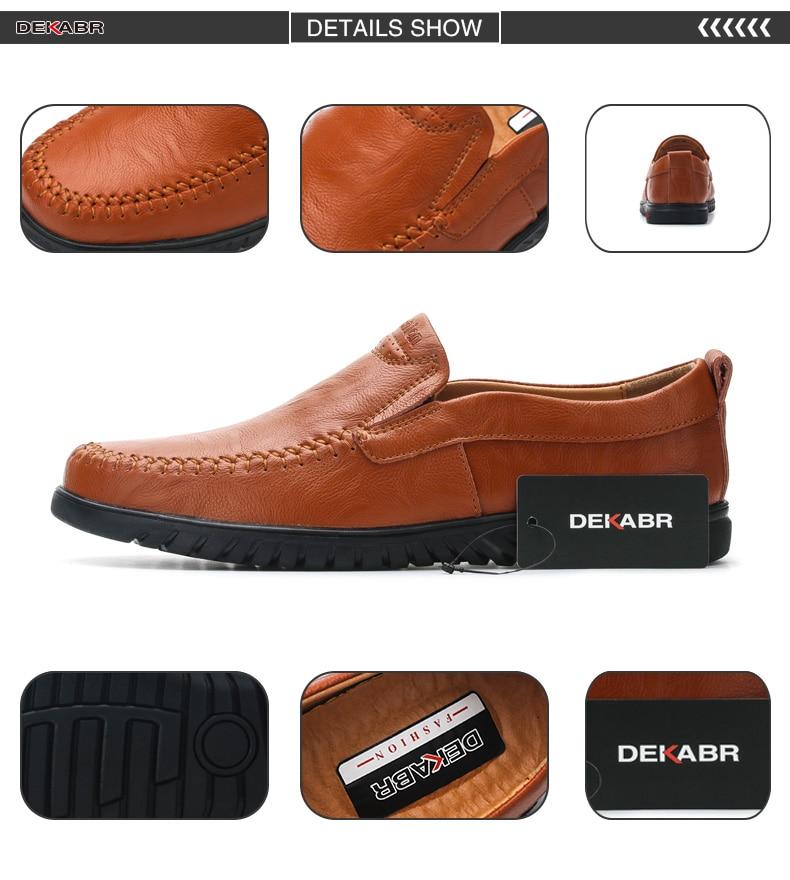 HTB1BVA8JYGYBuNjy0Foq6AiBFXa3 DEKABR Men Shoes Genuine leather Comfortable Men Casual Shoes Footwear Chaussures Flats Men Slip On Lazy Shoes Zapatos Hombre