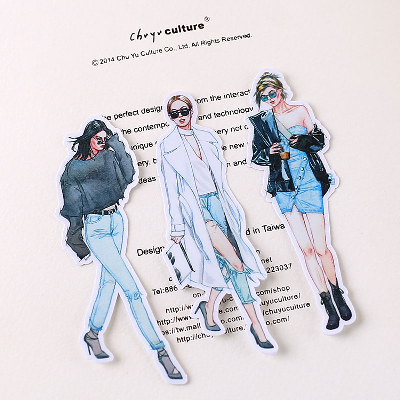 20 Pcs/Pack Cute Fashion Sexy Girl Decoracion Journal Stickers Kawaii Stickers Scrapbooking Stationery School Supplies