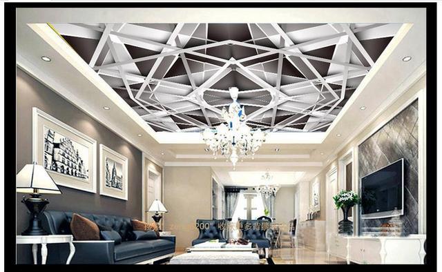 Aangepaste 3d plafond muurschilderingen behang mode 3d ruimte nest