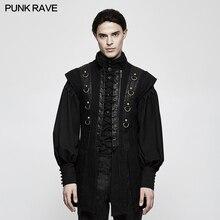 Punk Rave Men's Vest Jacket Coat Rock Black Fashion Cool Performance Party Gothic Kera Vest Cosplay Costume Vest Men