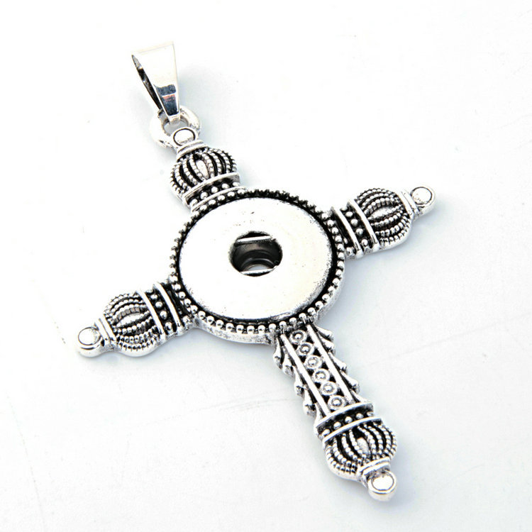 Wholesale 10pcs/lot cross Metal Button Pendant Fit 18mm watch snap new button watch Necklaces Jewelry
