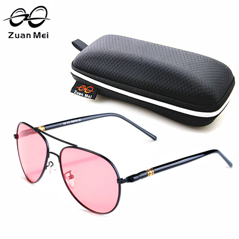 Zuan Mei marca polarizada Gafas de sol hombres conducción Sol Gafas para  las mujeres UV400 Rosa lindo Gafas mens Sol vidrio UV400 zm209 38d9eeda6963