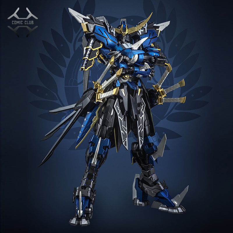 COMIC CLUB IN-STOCK Devil Hunter Blue Warrior Mb Date Masamune GUNDAM VIDAR Alloy Framework Action Robot Figure Toy