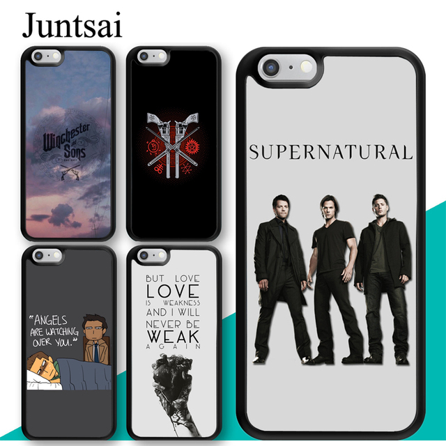 uk availability 1e657 88ee8 US $2.99 5% OFF|Juntsai Supernatural Dean Sam Castiel Phone Case for iphone  5s 6 6s 7 8 Plus X XR XS MAX TPU Back Cover Coque For iphone XS-in Fitted  ...