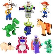 История игрушек 4 Вуди Базз Лайтер Джесси инопланетянин Рекс булси лотсо Объятия Медведь Мини Игрушка Фигурка строительный блок совместим с lego