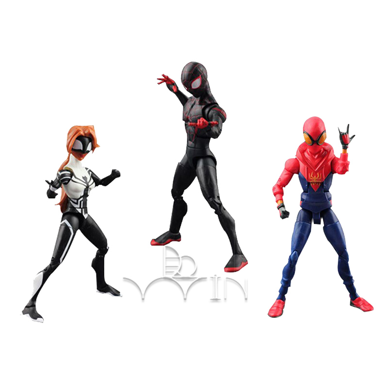 Anime action Cartoon Movie SpiderMan Homecoming Gwen Stacy Spider Woman Spider Man Toy Action Figure Model Gift for toys childr