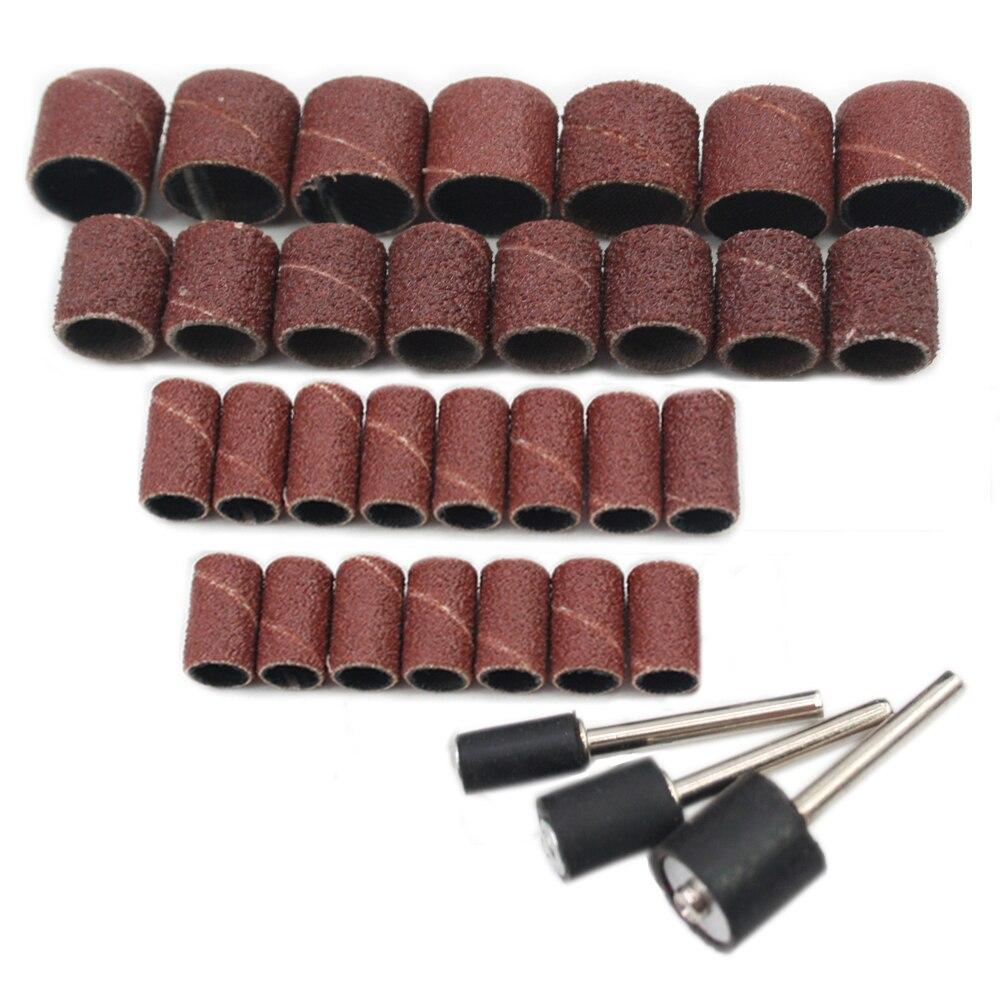 30 Pcs Per Pack Abrasive Sand Paper Ring Sand Paper Wheel Grinding Bits Polishing Roller Peeling Wheel Sand Paper Roller