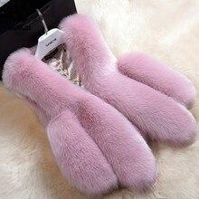 Hot Sale Winter Thick Warm Fur Vests Coat Women Faux Fox Fur Vest Short Coats High
