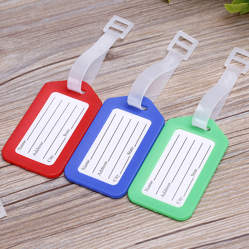 2019 Travel Accessories Plastic Luggage Tag Travel Suitcase Travel Bag Boarding Tag Label Name ID Tags Candy Color Drop Shipping