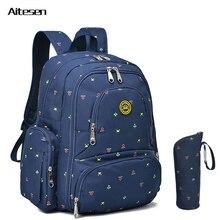 Новая мода многофункциональный большой емкости пеленки мешок мун младенческой рюкзак женщины мать рюкзаки рюкзак для ноутбука