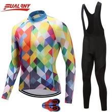 2019 Team FUALRNY Long sleeve Ropa Ciclismo Cycling Jersey sets 9D/Autumn Mountian Bicycle Clothing/MTB Bike Clothes colourful цены