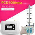 2018 новый большой шт 1900 МГц Усилитель сотового сигнала 70 дБ усиление мощности полный умный 2G 3G мобильный телефон усилитель повторитель для д...