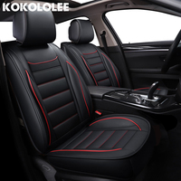 kokololee pu Leather Car Seat Covers for mercedes w124 fiat linea skoda fabia 1 nissan note koleos Automotive seat cover styling