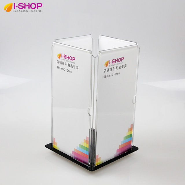 Rotating Table Sign Holder features 1/3A4 Frames on a Turntable ...