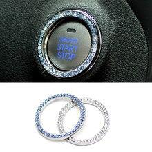 Universal Elegant Starter Decoration -Acrylic Car Engine Key Hole Ring- Nice Interrior for Automatic