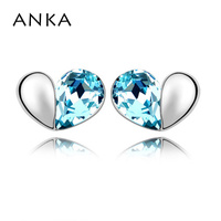Free Shipping Wholesale Price Love Crystal Earrings Make With Austria Elements 84308
