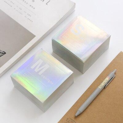 Creative Laser Square Block Notes Memo Pad Kawaii Notepad Note Paper 400 Sheets Note Pad