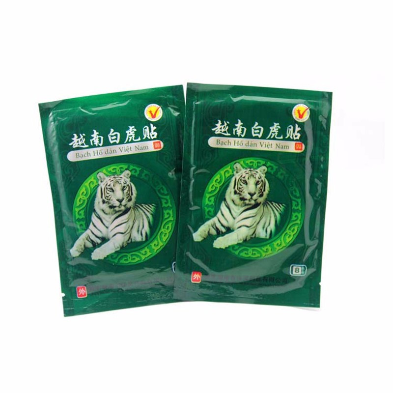 8 Pcs / lot Vietnam White Tiger Pain Relieve Plaster Patch Meridians Rheumatoid Arthritis Cervical Spondylosis Tiger Balm magnetic therapy plaster promote rapid wound healing adjuvant therapy of cervical spondylosis frozen shoulder arthritis plaster