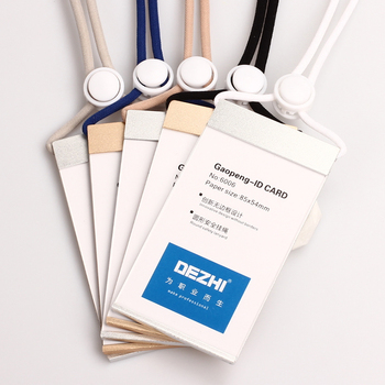 DEZHI-Mg Al Alloy ID Card Badge Holders with Safety Lanyard and Adjustable Buckle,comfortable,Focus on Customization