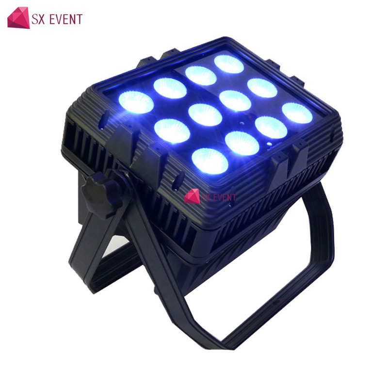 12x18w rgbawuv 6in1 led wireless dmx battery wash light For Wedding Party Event Night Club event