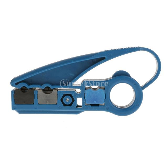 Coaxial Cable Stripper RG59 RG6 Stripping Tool Cat5e/6 UTP Wire ...