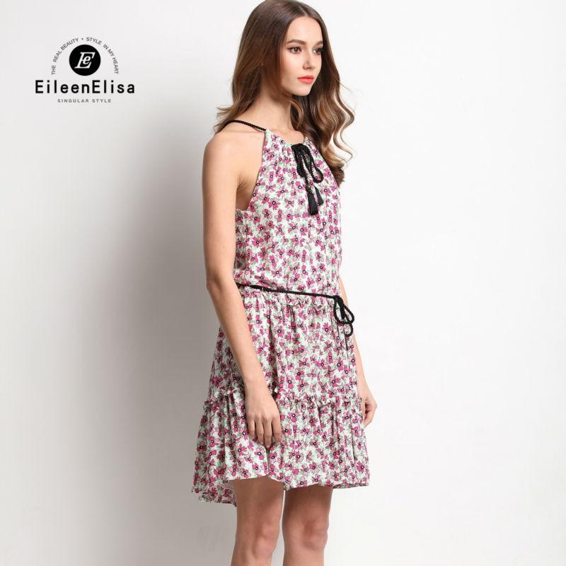 Women Runway Summer Dress 2017 Sleeveless Spaghtti Strap Dress Luxury Print Dresses in Dresses from Women 39 s Clothing