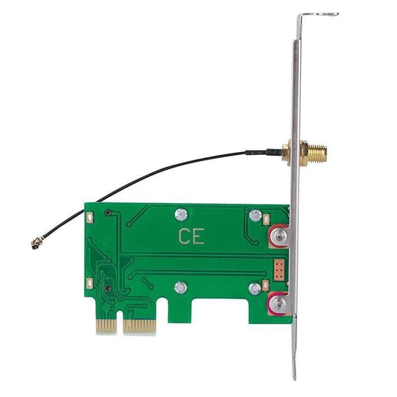 Wireless Wifi Network Card Mini Pci-E To Pci-E Adapter Convertor Card Desktop Gm