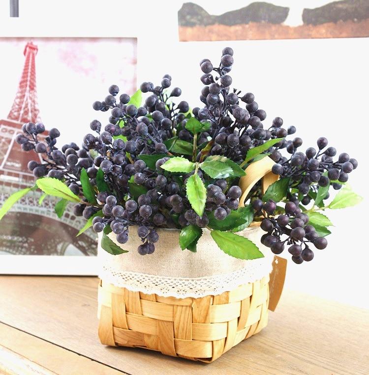 vruća prodaja dekorativni borovnica voće bobica umjetni cvijet - Za blagdane i zabave - Foto 2