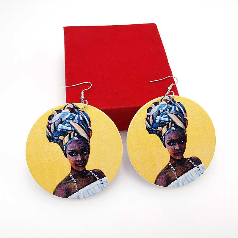 YD & YDBZ модные деревянные серьги для женщин 2019 Винтажные висячие серьги пара 6 стилей геометрические круглые ювелирные серьги оптом