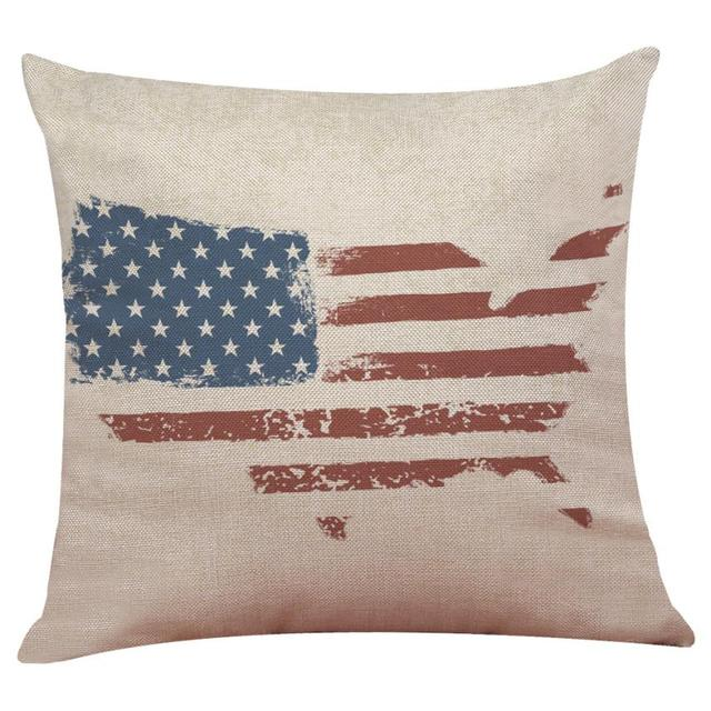 Housse coussin Vintage Américain  «United States»