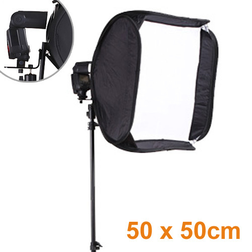 High Quality 19 7 x19 7 50cmx50cm Portable SoftBox For Speedlite Flash Light Photo Studio Accessory