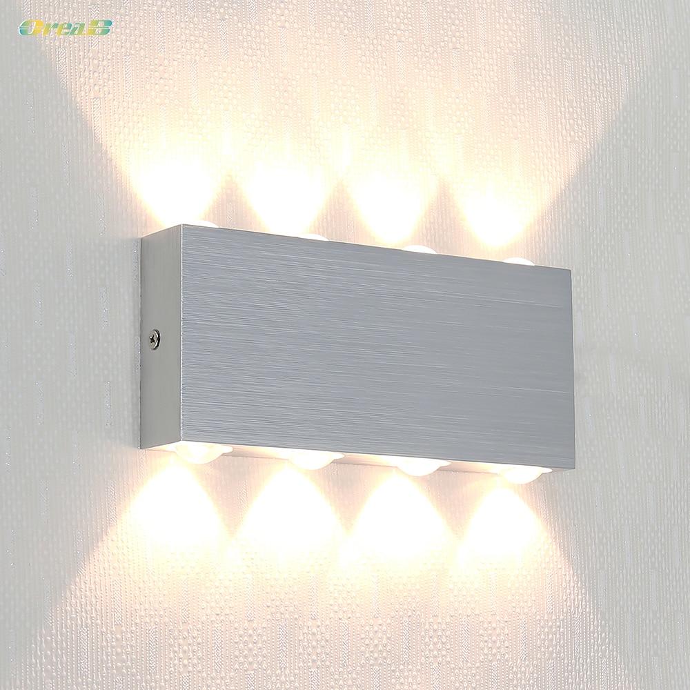8W /12W Silver Color Decorative Indoor Wall Mounted Led ... on Wall Mounted Decorative Lights id=27391