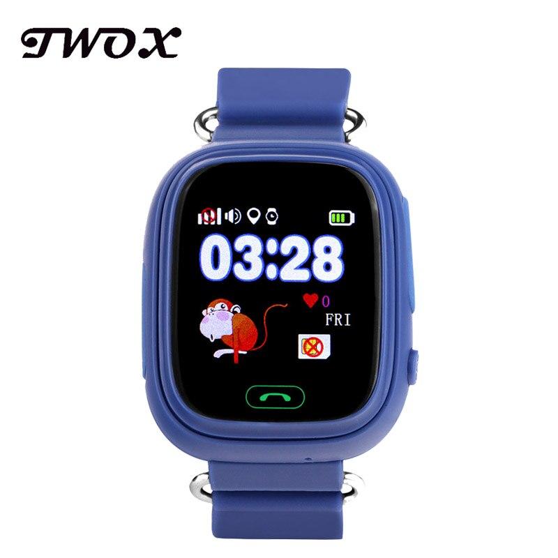 imágenes para TWOX Niño GPS Reloj Inteligente Q90 Pantalla Táctil WIFI Ubicación buscador Dispositivo Rastreador kid reloj para IOS Android PK q50 q100