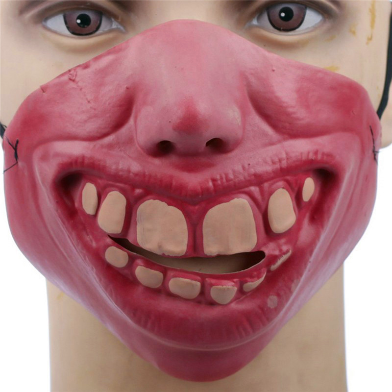 Funny Horrible Scary Mask Party Halloween Fool's Day Clown Latex Mask Cosplay Half Face Masks Costume