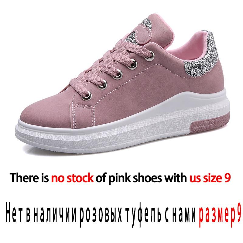 Automne Fuijin grey Plate Printemps pink Mode Coton Décontractées De Femme Cuir En À forme Sneakers Femmes Classique Pu Chaussures Lacets 2019 Été Black r115xPqt