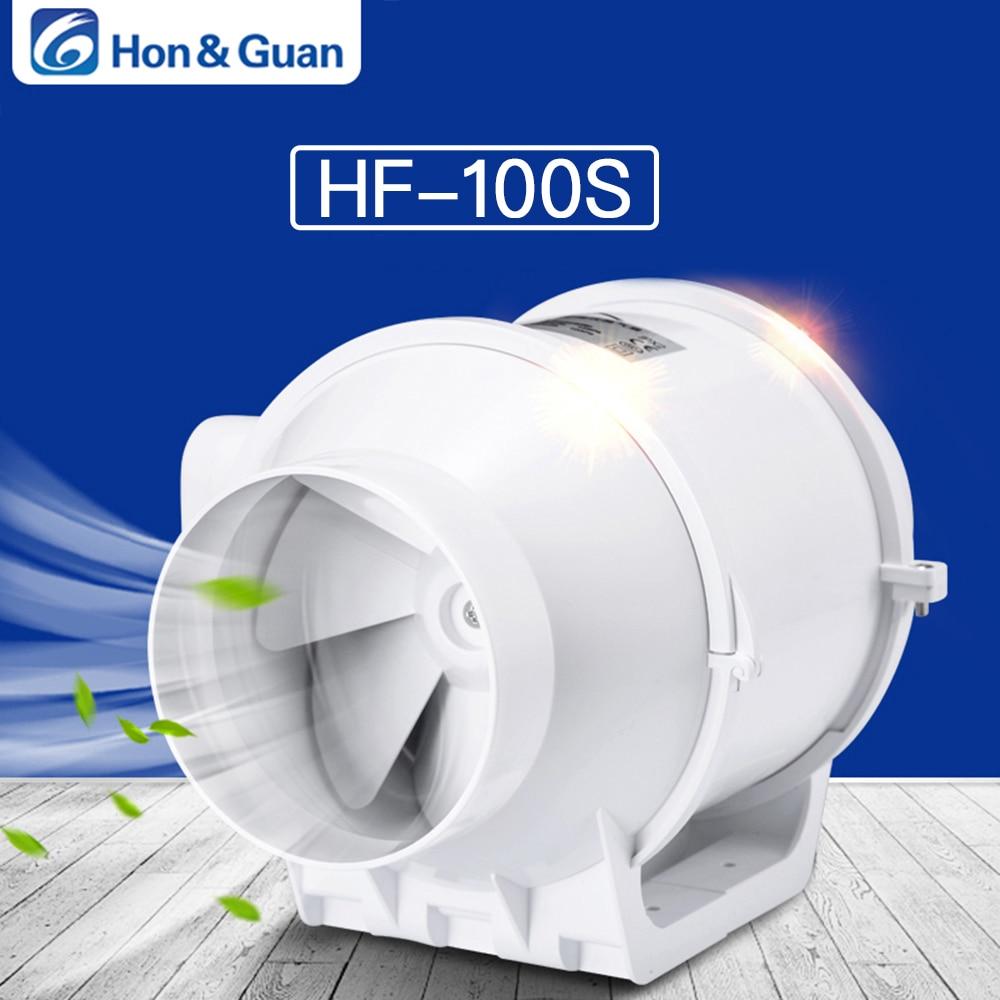 Kleine Klimaanlage Geräte Hon & Guan 4 inline Kanal Fan Booster Fan Kunststoff Wasserdichte Belüftung Rohr Auspuff Decke Bad Dunst Fan Hf-100s SchöN In Farbe Haushaltsgeräte