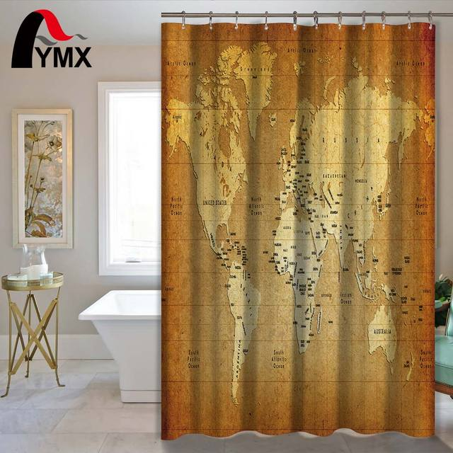 World map bathroom product waterproof polyester fabric shower world map bathroom product waterproof polyester fabric shower curtain bath decor home accessory for bathroom gumiabroncs Image collections